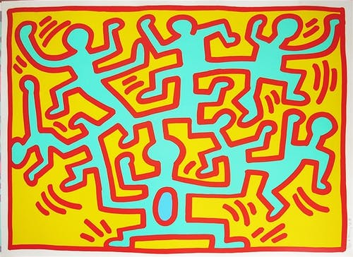 Keith Haring, Growing #2,1988.