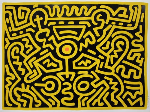 Keith Haring, Growing #4, 1988.