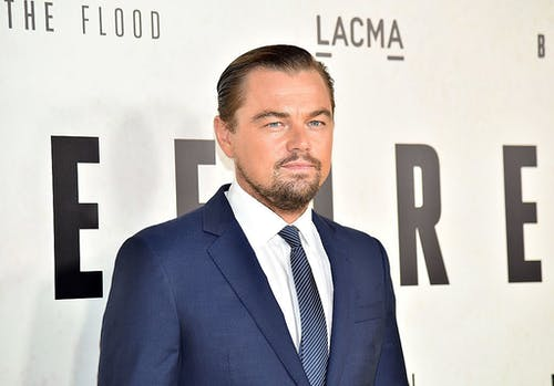 Leonardo DiCaprio on the red carpet at the LACMA art auction gala