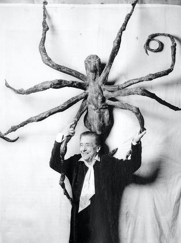 Louise Bourgeois with Spider IV.