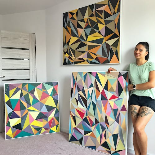 The artist shows off some of her recent work.