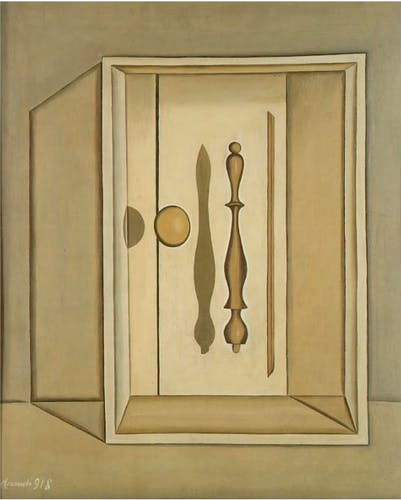 Giorgio Morandi, Natura morta metafisica, 1918, oil on canvas.