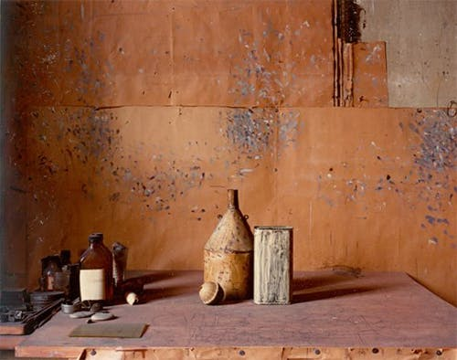 Inside the atelier of Giorgio Morandi.