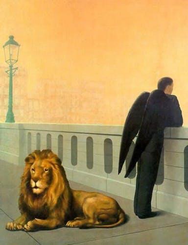 René Magritte, Homesickness, 1940.