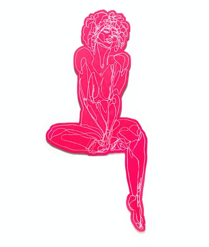 Martin Tardy, PINK LADY 2, 2019 Mixed Media on Hard PCV Board 185 × 289 × 2 cm 72 ¾ × 113 ⅝ × 0 ¾ in.