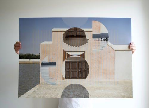 Sonia Bensouda, AVENUE DE LA MENARA, 2020 Edition of 5  Photography Collage on giclee print 84 × 59 cm 33 × 23 ¼ in.
