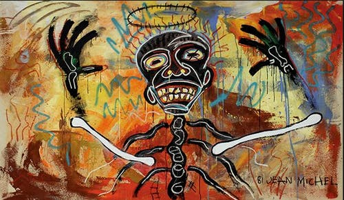 Undated painting by Jean-Michel basquiat.