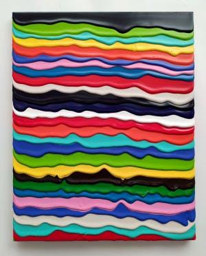 Derick Smith, SONDERNHO, 2021, Acrylic on Canvas 40 × 50 cm 15 ⅝ × 19 ⅝ in