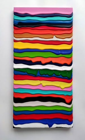 SECRET ATTRACTION, 2021 Acrylic on Canvas 30 × 60 cm 11 ¾ × 23 ½ in