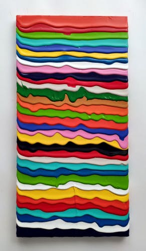 Derick Smith, AFTER THE SILENCE, 2021 Acrylic on Canvas 30 × 60 cm 11 ¾ × 23 ½ in