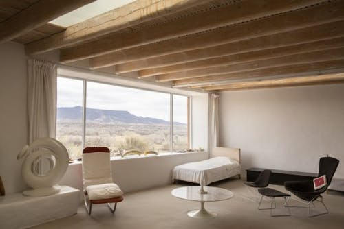 The minimalist bedroom with view.