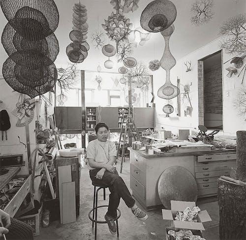 Ruth Asawa in Her Studio, San Francisco, 1969.