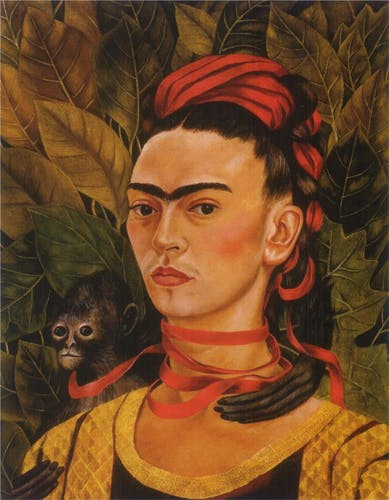 Frida Kahlo, Self Portrait with a Monkey, 1940