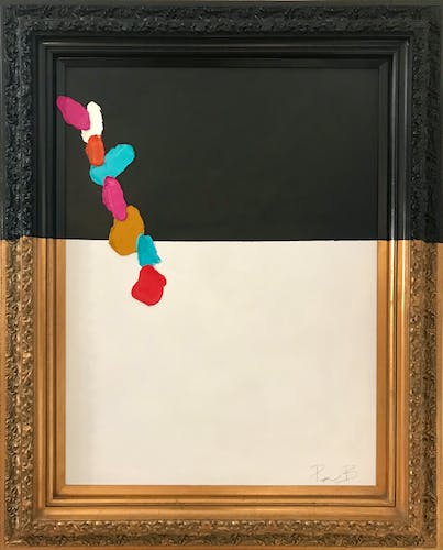 Piper Bridwell, GLORIOUS THINGS, 2020 Mixed Media on Vintage Frame 106.5 × 132 cm 41 7/8 × 51 7/8 in.