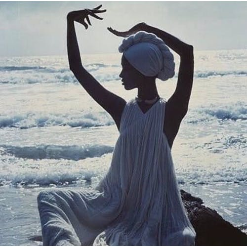 Image: Iman photographed in Tobago by Norman Parkinson for Vogue UK May 1976