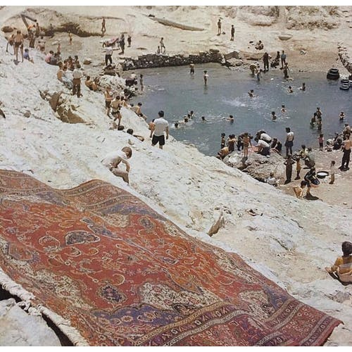 Image: washing rugs at the Cheshmeh Ali spring 1972, Tehran, Iran by Robert William McColl