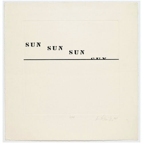 Image: Sun by Luis Camnitzer, 1937