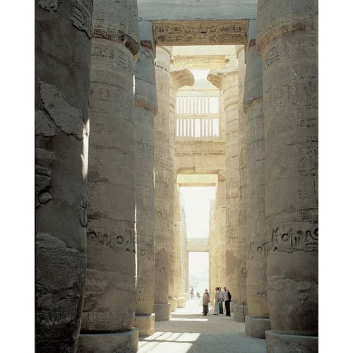 Image: Hypostyle Hall, Temple of Amen-Re, Karnak, Egypt, photographer unknown