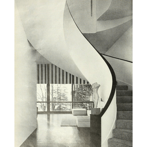 Mr. and Mrs Niels T Larsen House, designed by Joseph Esherick and Associates, Image via House and Garden, January 1964