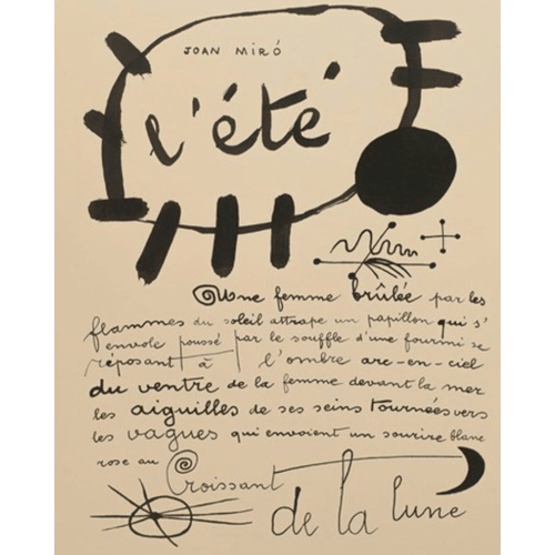 L'été, 1937 by Joan Miró