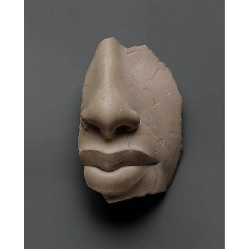 Nose and Lips of Akhenaten, 18th Dynasty, New Kingdom Egypt Amarna Period, ca. 1353-1336 B.C.E. Metropolitan Museum of Art NY, via @stephenellcock