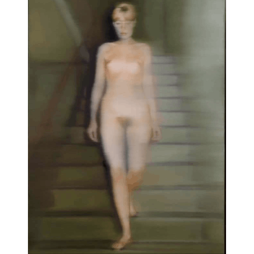 Ema (Nude on a Staircase), 1966 by Gerhard Richter