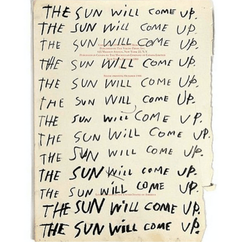 The sun will come up by Abel Macias